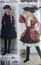 Sewing Pattern Costumes Pirate Girl Victorian Halloween Sz 14-22 Simplicity 8285