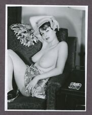 Splendid Girl Great Body Big Huge Breasts Smoking 1950 Original Nude Photo B4079