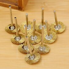 3.17mm Brass Wire Wheel Brushes for Weld Die Dremel Rotary Drill Rust Grinder