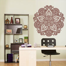 Wall Decal Vinyl Sticker Mandala Menhdi Flower Om Indian Hindu Buddha (Z2962)