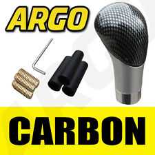 CARBON FIBRE MANUAL GEAR STICK SHIFT SHIFTER KNOB BLACK GREY UNIVERSAL