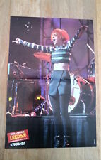 PARAMORE Hayley 'on stage' Centerfold magazine POSTER  17x11 inches