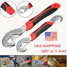 US Stock 2Pcs Multi-function Universal Quick Snap'N Grip Adjustable Wrench Set