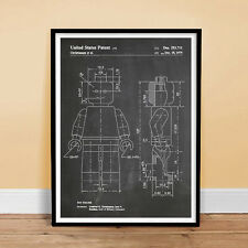 LEGO TOY MINIFIGURE MINI FIGURE PATENT PRINT 18X24 MOVIE POSTER CHALKBOARD 1979