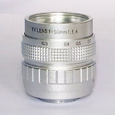 "FROM CHINA--Focusafe Silver FUJIAN CCTV 2/3"" Format 50mm F1.4 Lens C Mount"