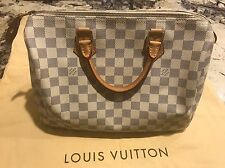 Authentic Louis-Vuitton Speedy 30 Damier Azur