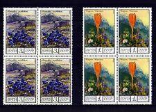 RUSSIA - 1976 - FLOWERS - SAFFRON - GENTIAN - CAUCASUS - 2 X MINT - MNH BLOCKS!