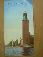 VINTAGE TOURIST BROCHURE STOCKHOLM CAPITAL OF SWEDEN 1960's