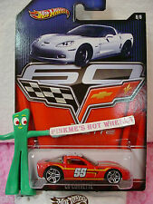 2013 Hot Wheels 60 Years #8/8 Chevy C6 CORVETTE∞Red; pr5~55✿Walmart Excl