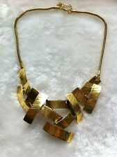 Vintage Cross Metal Pendant Bib Choker Statement Necklace Mother's Day Gift