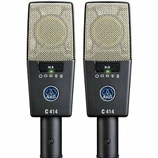 AKG C414 XLS ST Reference Multi-Pattern Condenser Microphone Matched Stereo Pair