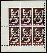 GB Locals - Pabay (991) 1970 CHURCHILL overprint on DOGS perf sheet of 6 u/m