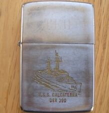 VINTAGE  ZIPPO LIGHTER MILITARY USS CALCATERRA