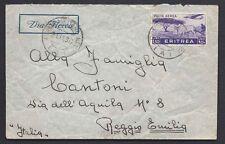 POSTA MILITARE AOI 1936 Lettera PA da PM 12(A) a Reggio Emilia (FS8)