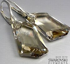 SWAROVSKI CRYSTALS EARRINGS SILVER DE ARTE BEAUTIFUL STERLING SILVER HANDMADE
