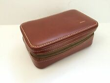 Vintage Hickok Vagabond Leather Toiletry Travel Case USA 'Kenny' Embossed