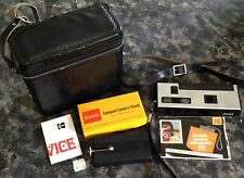 Kodak Pocket Instamatic 60 Camera,Compact Camera Stand,Cowhide Case W/ Strap