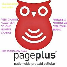 PAGE PLUS ESN CHANGE, SWAP or PHONE NUMBER CHANGE IPHONE VERIZON ASAP ..........