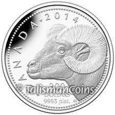 Canada 2014 Rocky Mountain Bighorn Sheep $300 1 Oz Platinum Proof MINTAGE = 250!