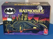 1992 Amt Ertl Batmobile With Jet Turbine Engine Car Model Kit Parts Sealed!1/25