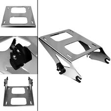 CHROME DETACHABLE TWO UP TOUR PAK MOUNTING RACK FOR HARLEY DAVIDSON TOURING