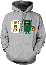 Trick or Treat Green Monster- Funny Cute Halloween Shirt  Hoodie Pullover