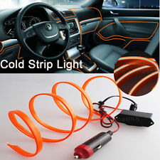 3M Orange Interior Trim Door Panel Decor Atmosphere Cold Strip EL Light For Ford