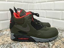 Nike Air Max 90 Sneakerboot Winter Dark Loden/Black/Crimson 684714-300 SZ 8.5