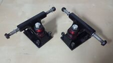 "2 x Skateboard BLACK TRUCKS FOR 22"" BOARDS - ASSI - Skate/Skateboard - LONGBOARD"