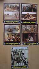 Q126 - 8x Aushangfotos DIE LANGEN SCHIFFE Richard Widmark/Sidney Poitier WA/RR