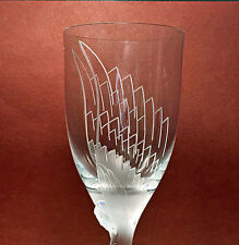 Lalique Angel Champagne Flute Signed Mint Condition (Ange) Retail $525 Gift Box
