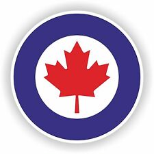 1x Royal Canada Air Force Sticker Roundel RCAF Bumper Door Laptop Helmet Tablet