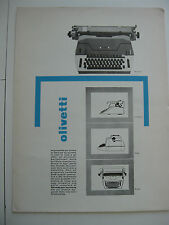 pubblicita advertising OLIVETTI 84 82 dispron forum raphael poster 32x24 - 1962