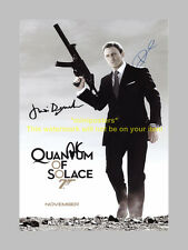 "QUANTUM OF SOLACE CAST X3 PP SIGNED 12""X8"" POSTER BOND"