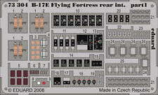 Eduard B-17E/ F Flying Fortress Rear Interior 1/72 Photoetched Detail Set 73304