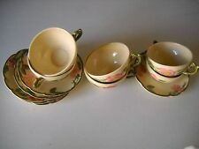 Vintage Franciscan Ware Desert Rose Lot of 6 Teacups and 6 Saucers