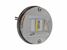 LED ROUND STERN WHITE TRANSOM LIGHT FOR BOATS - STAINLESS STEEL - FIVE OCEANS