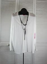 Women's Tops & Blouses 32 Flavors by Y.F.B. NWT Necklace Top large White (S/ CAD