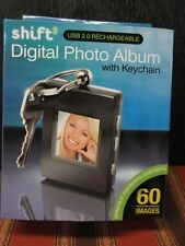 NEW SHIFT3 DIGITAL PHOTO ALBUM WITH KEYCHAIN USB 2.0 RECHARGEABLE 8MB 60 IMAGES