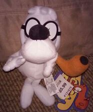 "Rocky & Bullwinkle and Friends  Mr.Peabody, 8"" Plush  NWT CVS CARTOON"