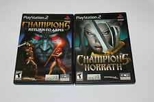 CHAMPIONS OF NORRATH & RETURN TO ARMS PLAYSTATION 2 PS2 LOT ~BOTH COMPLETE~