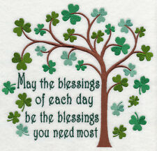 IRISH BLESSINGS OF THE DAY SET OF 2 BATH HAND TOWELS EMBROIDERED BY LAURA