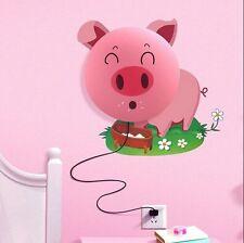 Carino piggy 3D Carta Da Parati Lampada Da Parete FAI-DA-TE Arredamento Camera