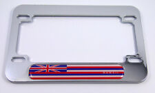 Hawaii flag Motorcycle Bike ABS Chrome Plated License Plate Frame Hawaiian