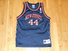 VINTAGE CHAMPION KEITH VAN HORN NEW JERSEY NETS NBA YOUTH BASKETBALL JERSEY LRG
