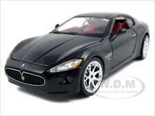 2008 MASERATI GRAN TURISMO BLACK 1:24 DIECAST MODEL CAR BY BBURAGO 22107