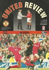 Football Programme - Manchester United v Liverpool - Premiership - 30/3/1994