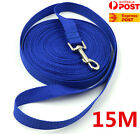 Blue 50ft/15m Long Dog Pet Puppy Training Obedience Recall Lead Leash Rope