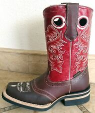 Mens El Presidente Two Tone Leather Cowboy Boots Western Wear Rodeo Square Toe