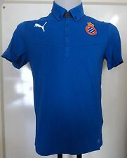 ESPANYOL RCD BLUE POLO SHIRT BY PUMA ADULTS SIZE MEDIUM BRAND NEW WITH TAGS